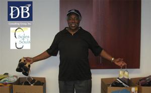 Gerald Boyd, Sr. at Soles4Soul Shoe Drive